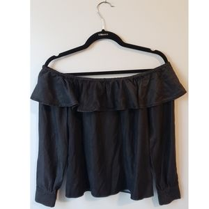 7 For All Mankind off the shoulder blouse